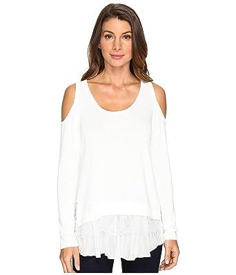 edf56d7d8990e Karen Kane Womens Cold Shoulder Lace Inset Sweater at Amazon Women s ...