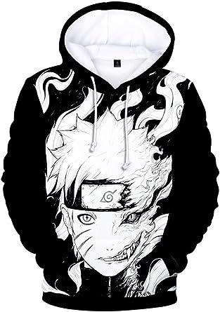 Naruto Sasuke Anime Naruto Sudadera Ropa de Hombre Manga Larga Naruto Impreso Sudadera con Capucha Ropa de Naruto para Cosplay