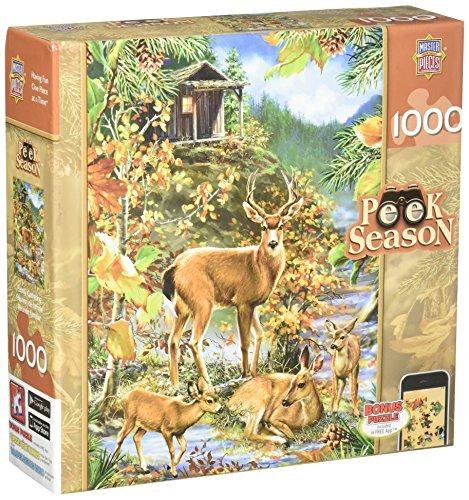 MasterPieces Peek Season Family Gathering Jigsaw Puzzle, Art by Dona Gelsinger, 1000-Piece