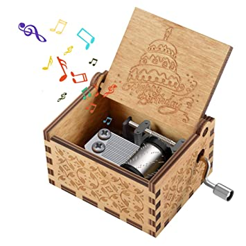Kidtoy Hand Crank Wooden Music Box For Your Love Best Birthday Gift