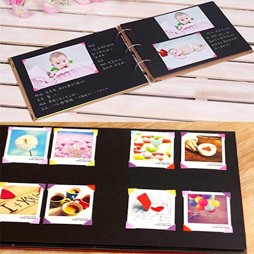 Scrapbook kit our story vintage photo album black pages memory book with scrapbooking - Fotoalbum selbst gestalten ...