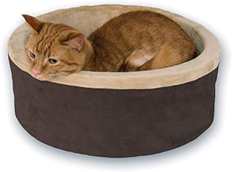 Amazon.com : K&H Pet Products 3191 Thermo-Kitty Heated Pet Bed ...