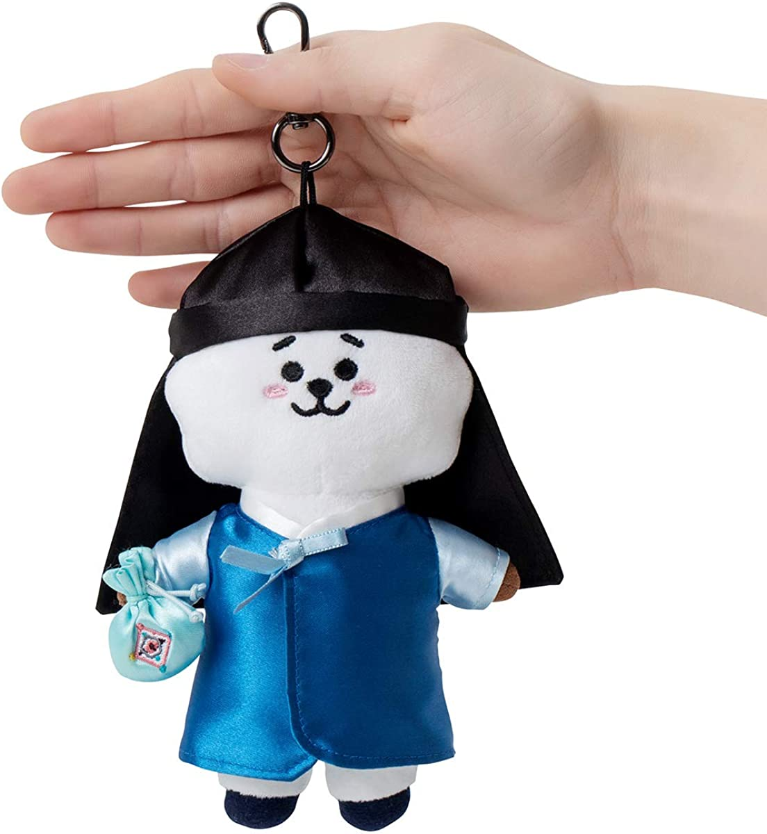 Korean Traditional Dress Costume Character Plush Figure Keychain Ring Bag Charm BT21 Official Merchandise by Line Friends