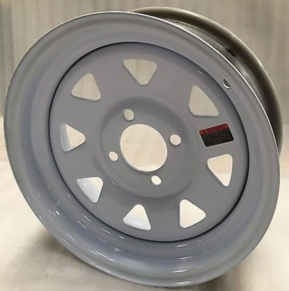 13'' Trailer Stock Utility 4 Lug W/Spoke Wheel Wheels Rims 4X4