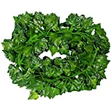 156 feet Fake Foliage Garland Leaves Decoration Artificial Greenery Ivy Vine Plants for Home Decor Indoor Outdoors (Ivy Leaves)