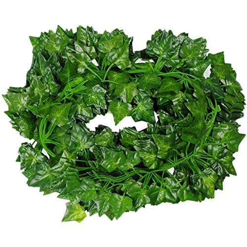 156 feet Fake Foliage Garland Leaves Decoration Artificial Greenery Ivy Vine Plants for Home Decor Indoor Outdoors (Ivy Leaves) (Foliage Spring)