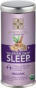 Valerian Tea for Sleep - Valerian has a Delicious Lemon,Lavender and Chamomile Flavor- Bedtime Tea for Sleep aid - This Sleep Tea Helps Fall & Stay Asleep - 40 Servings by Secrets of Tea