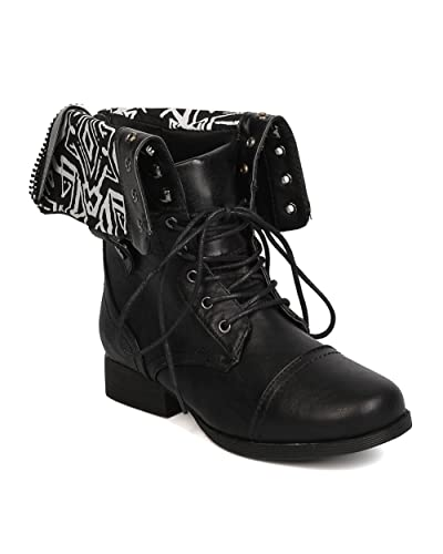 Women's Jetta Combat Boot With Foldover Cuff