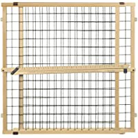 """North States MyPet 50"""" Extra Wide Wire Mesh Petgate Install with no Tools. Pressure Mount. Fits 29.5""""-50"""" Wide (32"""" Tall…"""