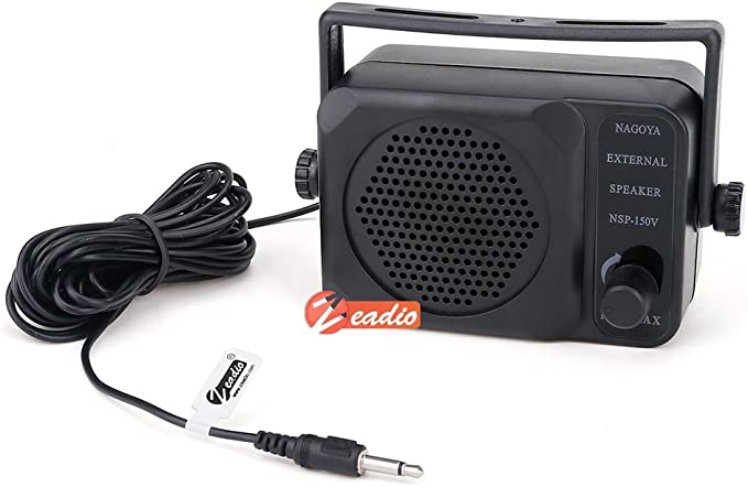 Zeadio 3.5mm Jack External Speaker for Motorola Kenwood Yaesu Midland Icom HYT Mobile Transceiver Cb Radio