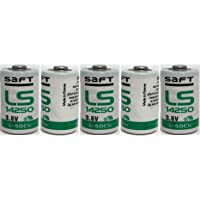 5 SAFT LS14250 LS 14250 1/2 AA 1/2AA 3.6v Li-SOCl2 Lithium Batteries MADE IN FRANCE