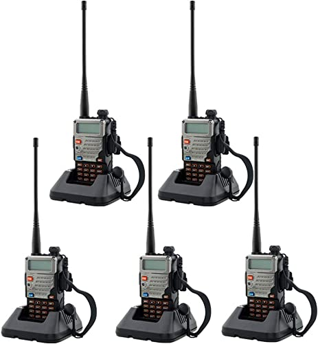 BaoFeng UV-5R Upgrade Version Dual Band Walkie Talkie VHF UHF Two Way Radio 5 Pack