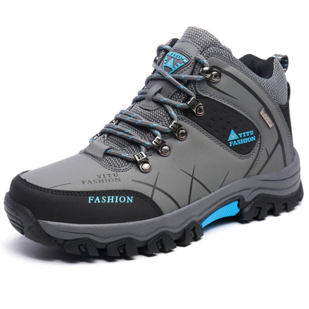 HGDR Männer Hoch-Oben-Wanderschuhe Offroad-Draussen-Rutschfeste Verschleißfeste Wasserdichte Wandern Trekking Kletternde Stiefel