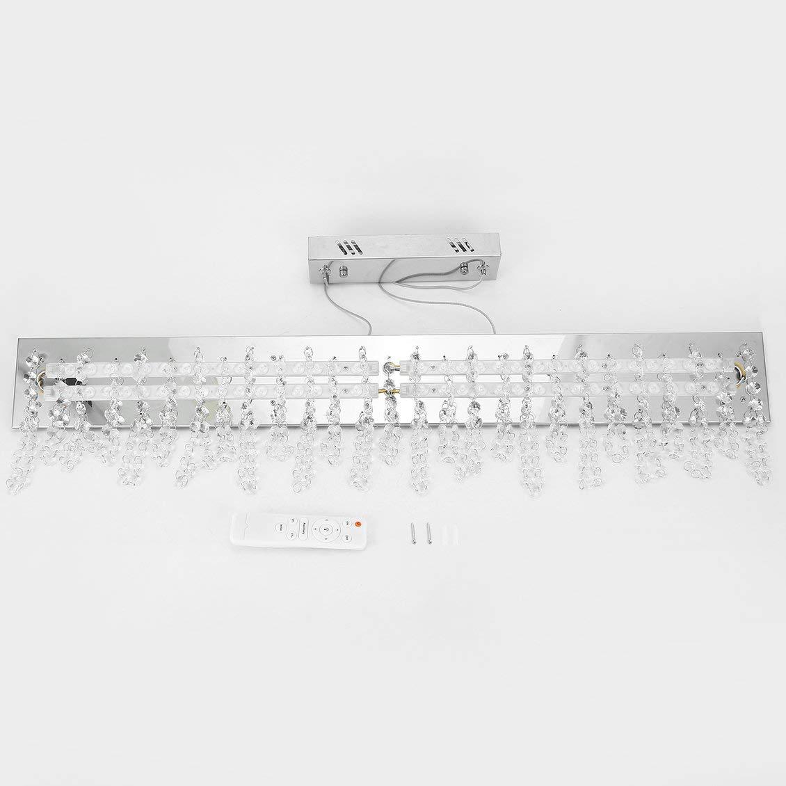 24 Watt Dimmbare Kristall hängende Deckenleuchte Esszimmer Restaurant Kronleuchter Pendelleuchte Dekoration Beleuchtung