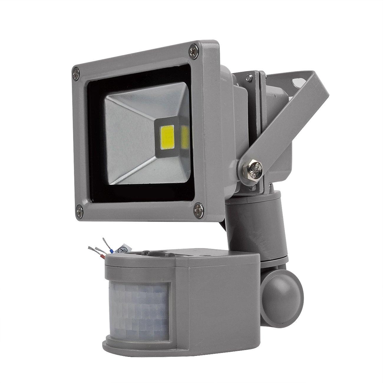 20W Foco LED con Sensor Movimiento,Proyector LED Exterior,Blanco Frio con Detector PIR de IP65(resistente al agua),Iluminación de Exterior y Seguridad para ...