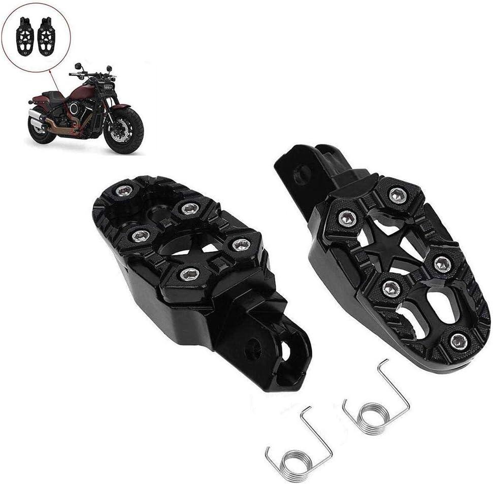 THE BEST DAY Accessoires de moto P/édales en aluminium Repose-pieds antid/érapants P/édales universelles