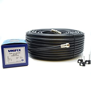 Sky Satellites Kit de cable de extensión coaxial 10 m RG6  TV