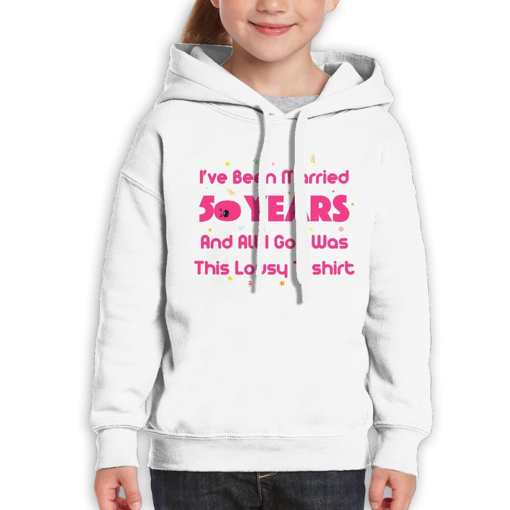 RWEA 50th Wedding Married Anniversary Girl' Classic Unique Hoody Suit