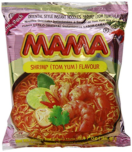 - Mama Instant Noodle, Tom Yum Shrimp Spicy Flavor, 3.17 Ounce (Pack of 20)