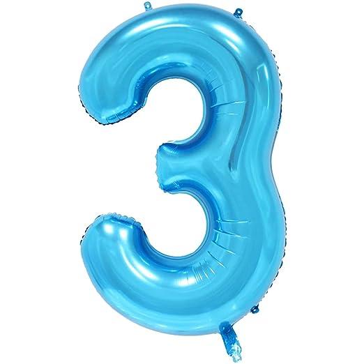 Ballons & Accessories - Party Decoration 32 Inches Blue Digit Foil ...