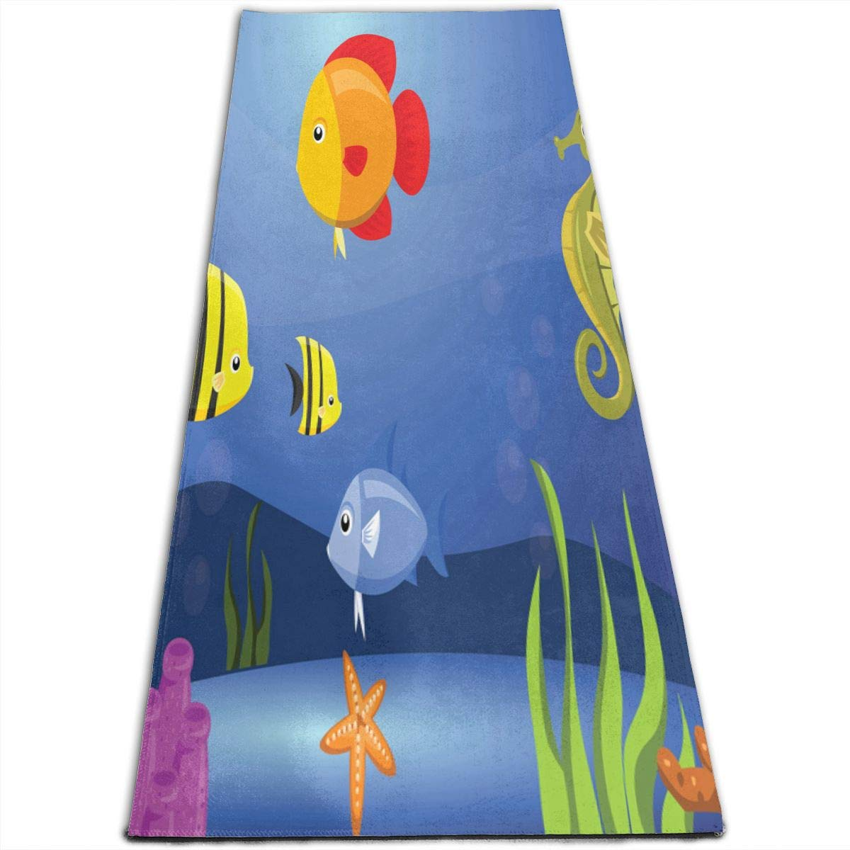 Amazon.com: Yoga Mat Seahorse And Fish Hot 1/4-Inch Thick ...