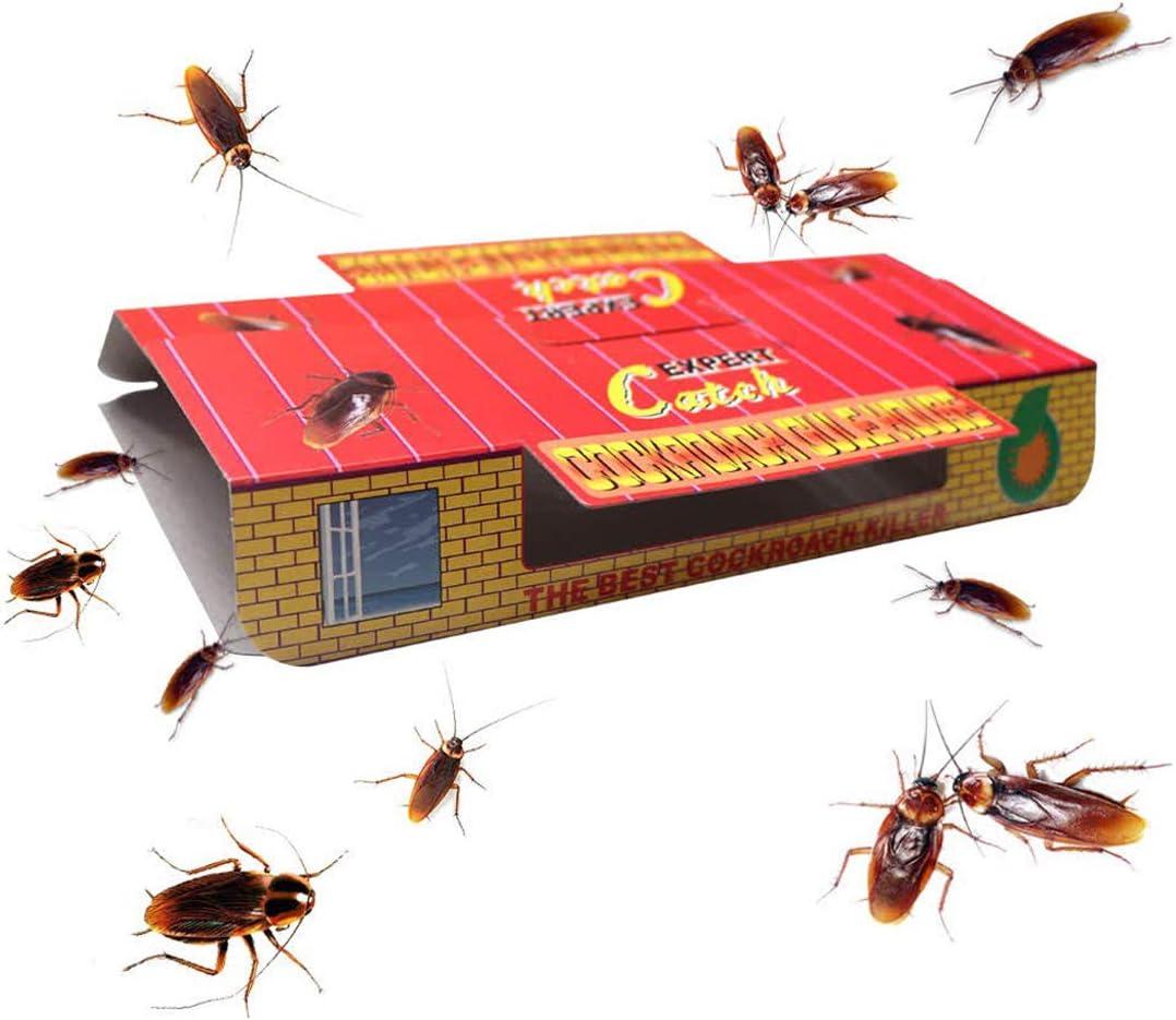 Ningerhunter - Lote de 15 trampas para cucarachas con Cebo Incluido, Trampa de Pegamento prémium, ecológico, no tóxico, Premium Spiders Hormigas Asesino cucarachas