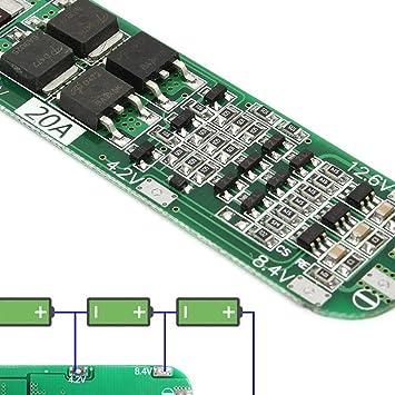 5 UNIDS 3S 20A Li一ion Batería de Litio 18650 Cargador 12.6 ...