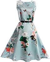 HUIJSNQ Elegant Women Dress Print Vestidos Femme Robe Retro Plus Size