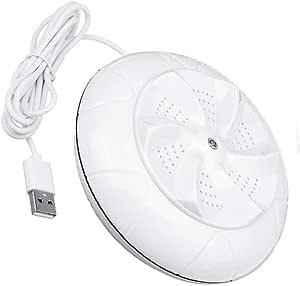 DBUKULELE Lavadora de turbina ultrasónica giratoria Personal portátil, Mini Lavadora USB, Herramienta de Limpieza de lavandería Plegable para Apartamentos de Camping