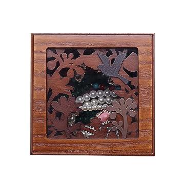 Jewelry Box Cajas Organizadores y Cajas para Joyas Joyero de joyería de Madera Estilo Chino Retro ...