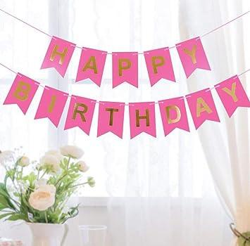 CHENGXINGF Banner de Feliz cumpleaños Decoración de ...