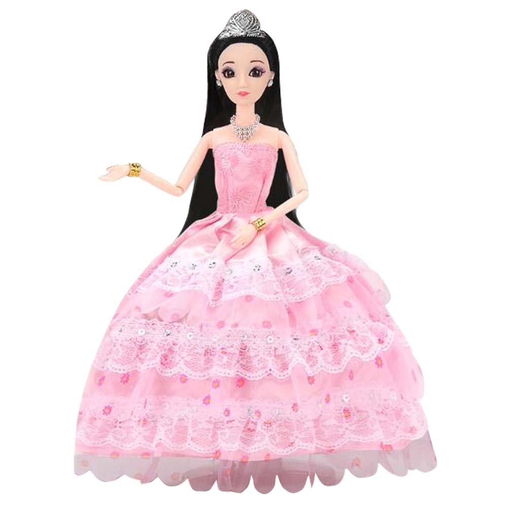 Schöne Hochzeit Kleid Puppe Simulation Prinzessin Mädchen Spielzeug ...
