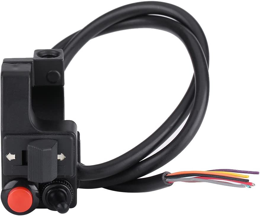 Kit de interruptor de control de manillar de motocicleta ATV 7/8