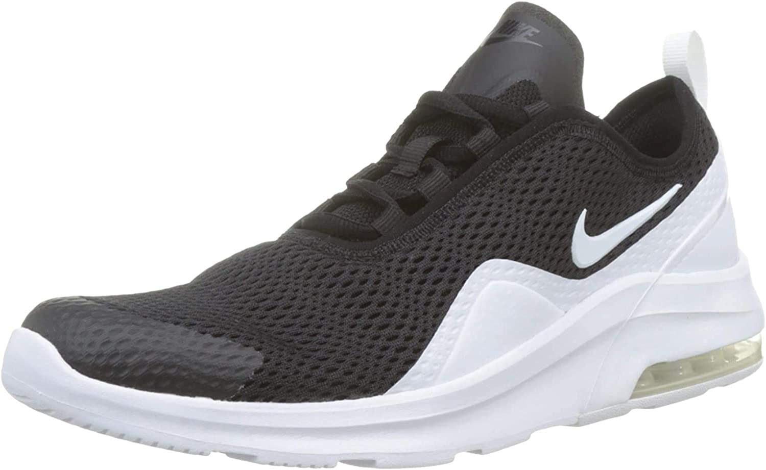 marcador Dedicación Ya  Amazon.com | Nike Air Max Motion 2 Sneaker - Kids' (4.5, Black/White) |  Shoes