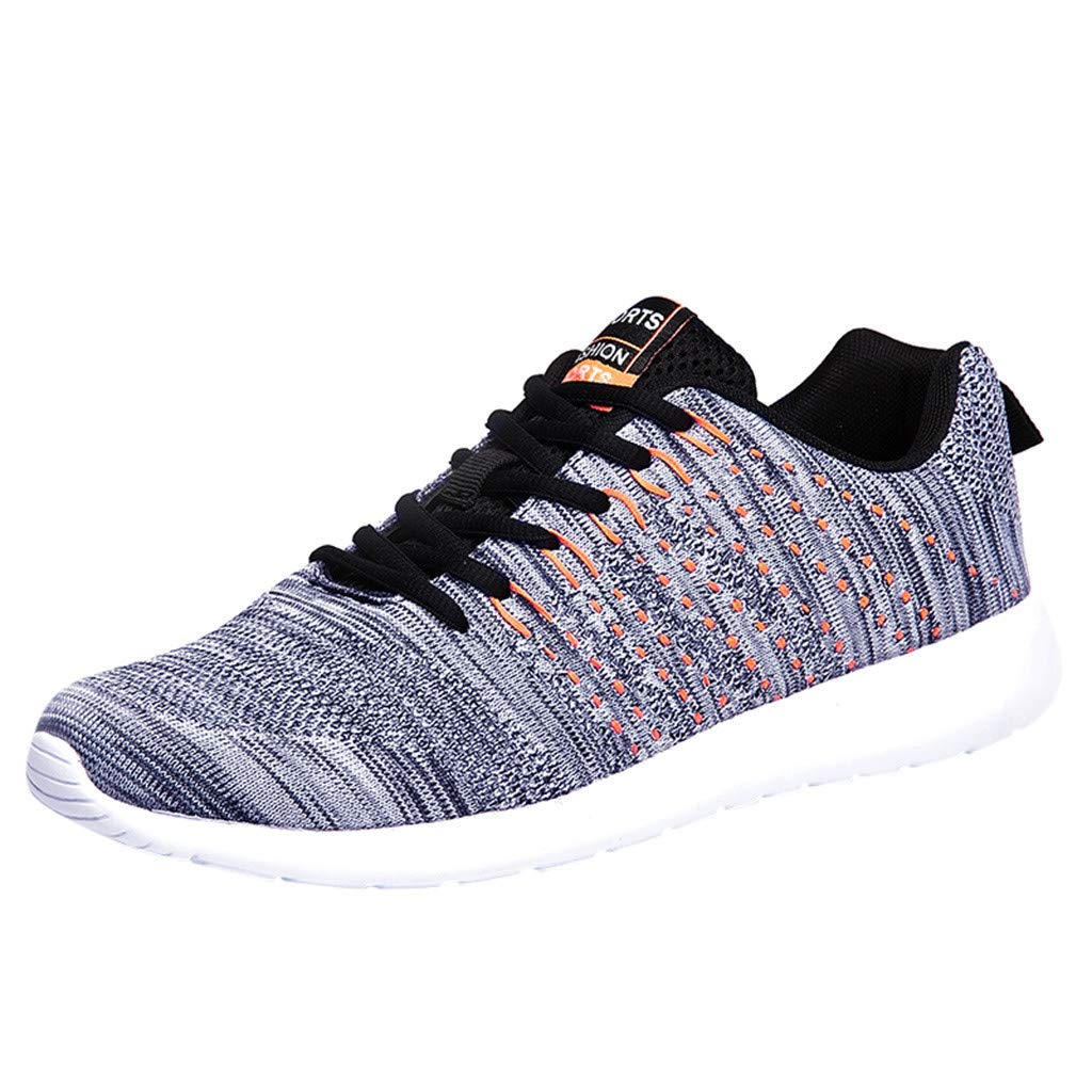 VonVonCo Shoes for Crews Couple Outdoor Mesh Breathable Casual Sports Shoes Lace-Up Sneaker Running Shoes Grey by VonVonCo