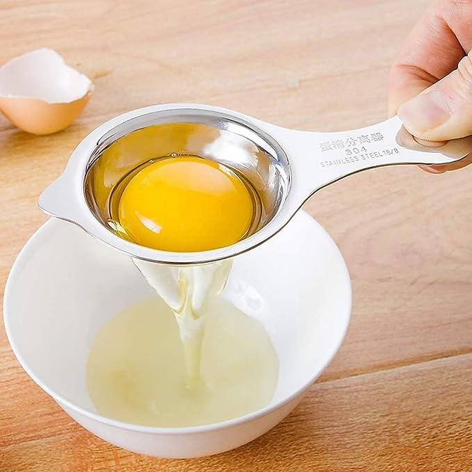 s/éparateur doeufs en acier inoxydable de s/éparateur de filtre blanc doeuf pratique pour loutil de cuisson des gadgets de cuisine S/éparateur doeufs
