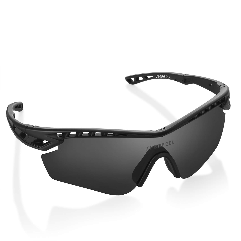 Amazon.com: Gafas de sol deportivas polarizadas SPORFEEL ...