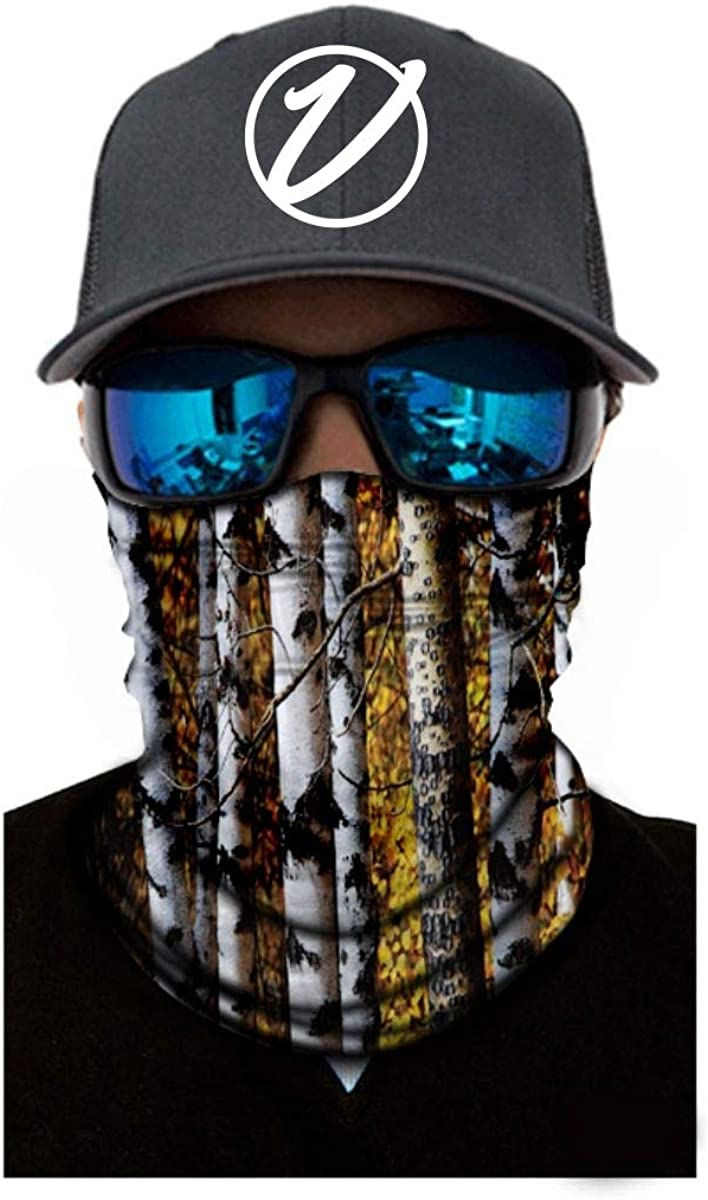 VulgrCo Camo Series 2 Original Fishing Hunting Outdoor Neck Gaiter Face Armor Neck Protector Mask Bandana Headband for Men and Women Perfect for Warm and Cold Weather