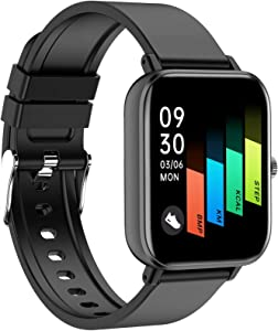 Smart Watch, CNPGD Fitness Tracker Watches for Women Men Fitness Watch Touch Screen Smartwatch with Heart Rate Monitor, Blood Oxygen(SpO2) Monitor, Smart Watch for Android Phones and iPhone