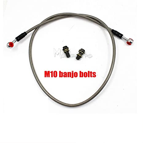 Amazon.com: 1700mm Braided Motorcycle Hydraulic Brake Hose Clutch Oil Cable Line w 2 x 10mm Banjo Bolts: Automotive