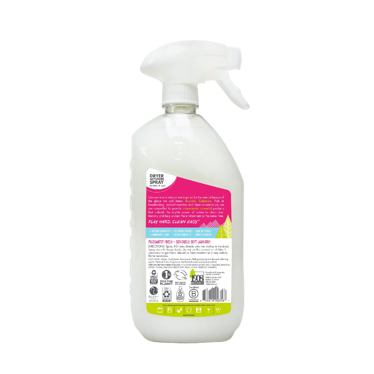 Boulder Clean Fabric Softener Dryer Spray, Mountain Meadow, 28 oz (Pack 4) by Boulder Clean (Image #3)