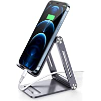 UGREEN Cell Phone Stand Adjustable Aluminum Mobile Phone Holder for Desk Compatible for iPhone 12 11 Pro Max X SE XS XR…