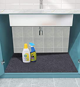 Sensko Under sink mat, kitchen cabinet mat, easy to cut—waterproof and oil-proof, easy to clean—Washable, environmental protection Kitchen mat (23.8in×36in)