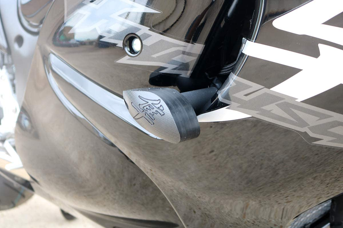 T-Rex Racing No Cut Frame Sliders for Suzuki 2008-2019 GSX1300R Hayabusa White