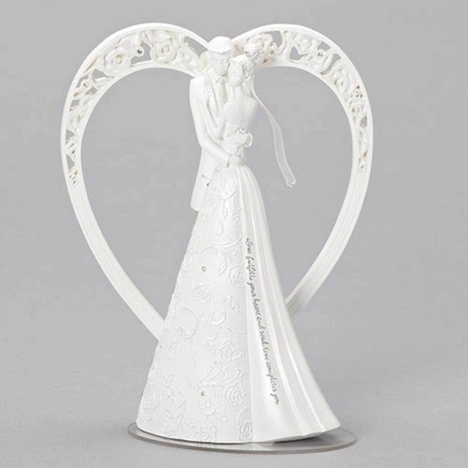 8.65'' Gina Freehill Language of Love Bride and Groom Wedding Cake Topper
