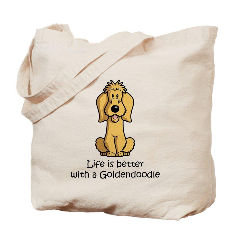 CafePress – Goldendoodle – ナチュラルキャンバストートバッグ、布ショッピングバッグ B015NFRM52
