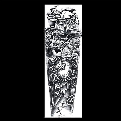 zgmtj Brazo de Flor, Etiqueta de Tatuaje de Brazo Completo ...