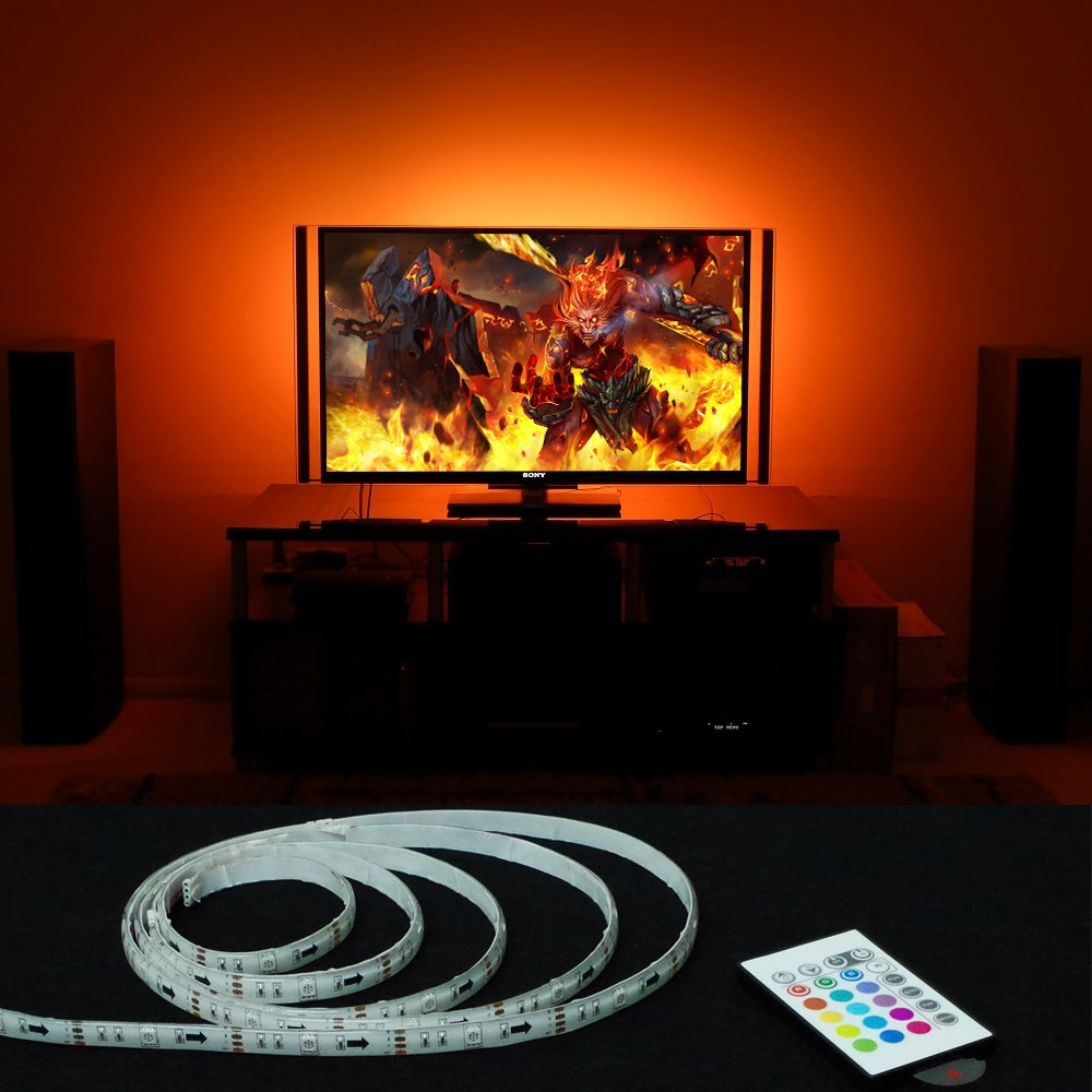 Led light strips behind tv cool hue light switch adapter strip plus amazing top best usb led backlight rgb adhesive strip for flat screen hdtv lcd desktop monitors on flipboard with led light strips behind tv aloadofball Gallery