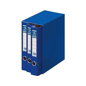 Dohe Archicolor - Módulo 3 archivadores A4, color azul: Amazon.es: Oficina y papelería