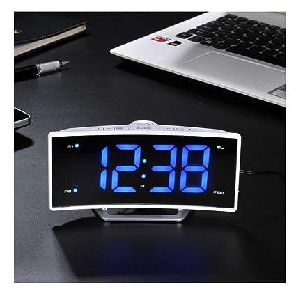 Reloj Despertador para durmientes Pesados Snooze Función LED Múltiple Digital Radio FM Memoria Teléfono